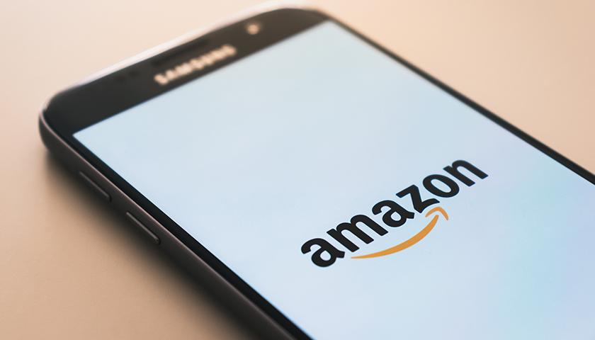 Amazon logo on a Samsung phone