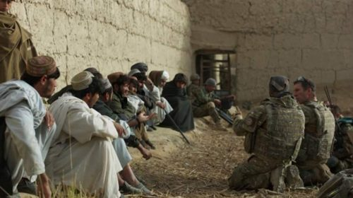 Afghan, coalition forces advance into Taliban heartland British Lt. Col. Andrew Harrison, 2nd Battalion, The Parachute Regiment commander, conducts a shura with Tor Ghai village elders after ISAF and ANA secured the village during a recent operation. (Photo courtesy of Task Force Helmand Public Affairs)